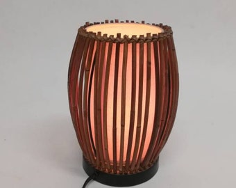Year 1980 bamboo TABLE lamp