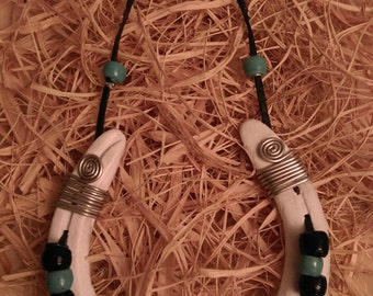 Handmade Lucky Charm Horseshoe with Evil Eye and Beads