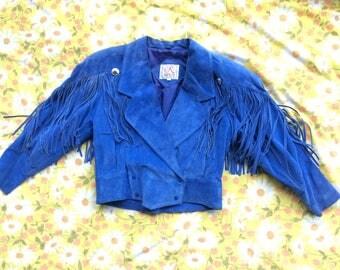 SMALL Leather Fringe  Jacket
