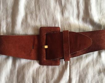 Vintage faux Suede Belt