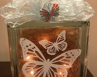 Butterfly - Glass Glow Box