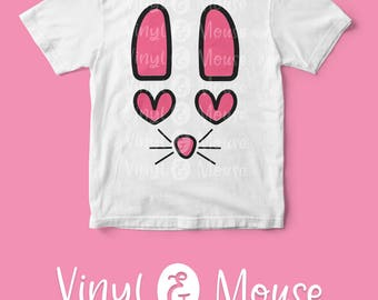 Easter Bunny SVG Cutting File, Cricut Cameo svg dxf png, Cute Bunny svg, Baby Girl svg, cute easter svg, Easter dxf, Easter Iron On
