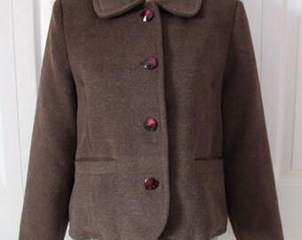 1980s Brown Jacket or Coat Large