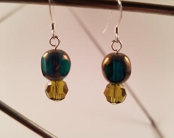 Czech Glass Drop Earrings