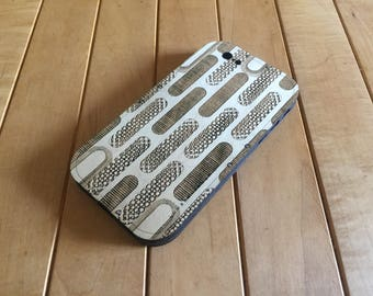 Birch iPhone Case with Laser-Etched Grate Design -  iPhone 7 Case in Wood - Wood iPhone 6S & iPhone 6 Case - New Lumberjack Style!