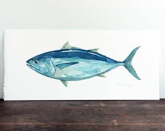 Atlantic Bluefin Tuna Original Watercolor Painting