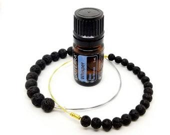 Essential Oils Guitar String Bangle | Lava Beads for Essential Oils | Essential Oil Diffuser | Oil Diffusing Jewelry