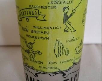 Vintage  Connecticut souvenir glass