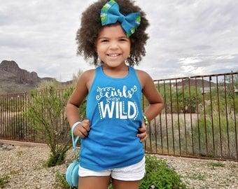 Curly Hair Don't Care - Beach Tanks for Girls - Girls Racerback Tanks - Curly Hair - Kids Tank Tops - Summer Tank Tops - Birthday Gift - Tee