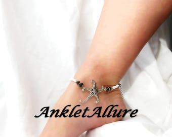 Anklets Starfish Anklet Ankle Bracelet Cruise Ankle Bracelet Black Bikini Jewelry Black Anklets for Women  GUARANTEED
