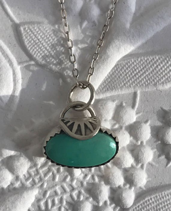 Sterling and turquoise bead necklace
