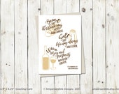 New Home, House Warming, Bread Salt Wine - It's A Wonderful Life - Greeting Card with A6 envelope