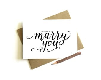 I Can't Wait to Marry You Card - Wedding Day Card, To My Husband, To My Wife, Bride Card, Groom Card, On Our Wedding Day Card, Groom Gift