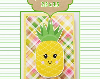 Pineapple Guy Friend Favor Tag Blank card tag friend card Thank you card teacher gift coworker gift Best friends card Appreciation