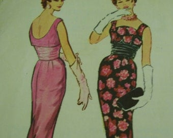 Vintage 1950's McCall's 4798 Dress Sewing Pattern, Size 12, Bust 32