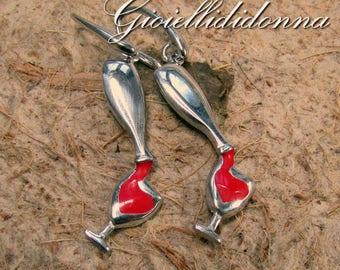 Love Wine Pendent Argento  Sterling 925 -  regalo compleanno per lei - bottiglia di vino collana -  regali amanti del vino