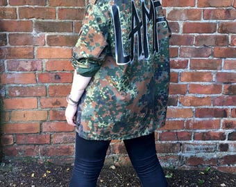LAMF/Like A MotherF&%ker Hand Painted Vintage 90's Camoflauge Jacket