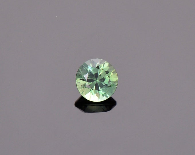 SALE EVENT! Green Blue Sapphire Gemstone from Montana, Round, 0.68 cts., 5.0 mm.