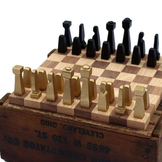 Blacksmith Chess Set Metal Chess Set Collectible Chess
