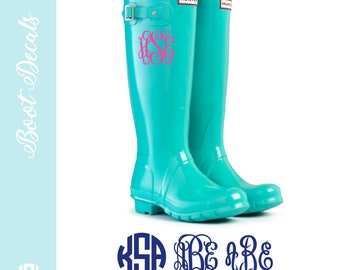 Rain Boot Monogram Set | Vinyl Monogram | Boot Sticker | Monogram Sticker For Rainboots | Set of 2 Decals