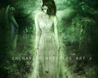 Ghost bride print art print