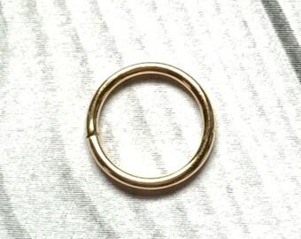14K Gold Nose Hoop Ring, Real Gold Hoop Nose Ring, 14K Gold Septum Ring, Cartilage Earrings, Tragus Hoop, 14K Gold Hoop Earrings