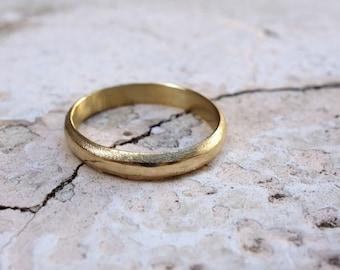 Wedding Ring Promise Ring Wedding Band Gold Ring Classic Wedding Band Gold Band Simple Solid gold wedding ring His ring hers ring Man's ring