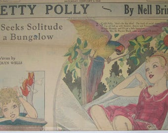 Original 1929 Newspaper Clipping - Pretty Polly By Nell Brinkley