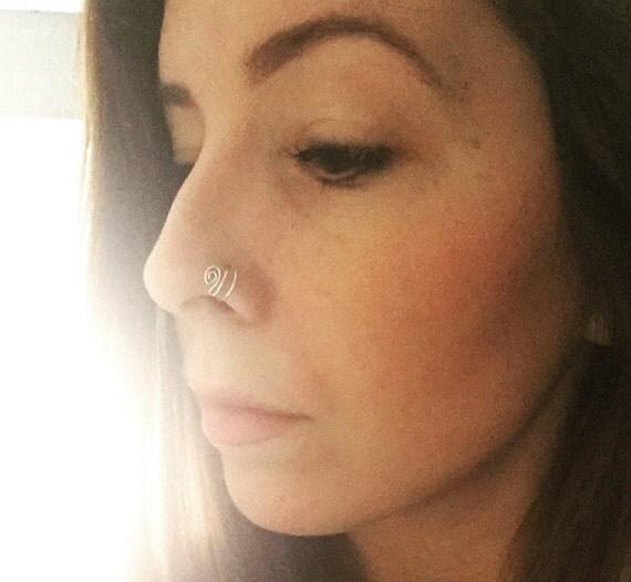 Nose Piercing Double Hoop 1439 | VIZUALIZE