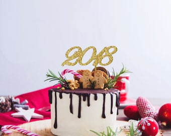 Cake Art Decor Zeitschrift 2018 : New years eve topper Etsy