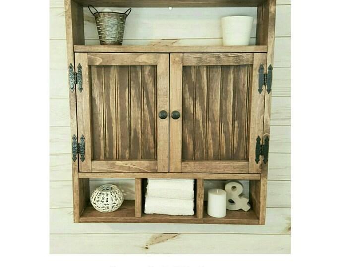 Medicine Cabinet - Bath Storage Cabinet - Hanging cabinet  - Shabby chic