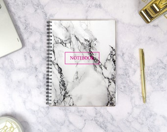 Marble Diary Journal Personalized, Marble Journal Notebook Personalized, Marble Office Supplies, Marble Desk Accessories, Marble Notebook A5