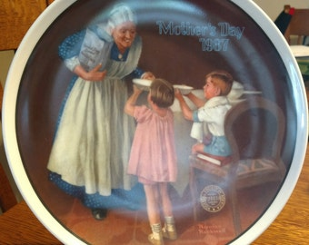 Grandma's Surprise by Norman Rockwell Collectors Plate