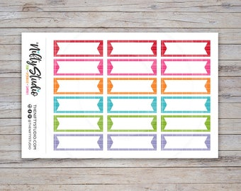 Flag Boxes Stickers | Planner Stickers | Decorative Box Stickers | The Nifty Studio [125]