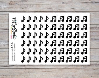 Music Notes Planner Stickers | Eighth Notes Stickers | Stickers for your daily planner, Erin Condren compatible