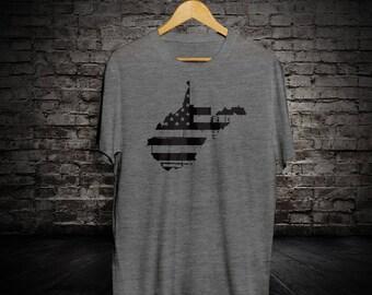 West Virginia Distressed Flag T-Shirt
