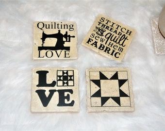 Quilting Coasters, Home Decor, Sewing Coasters, Sewing Gifts, Custom Coasters, Christmas Gifts, Gifts for Mom