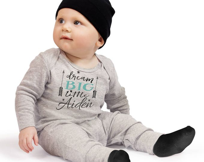 Customized Baby Boy Coming Home Romper, Personalized Baby Boy Take Home Bodysuit Romper, Baby Name Romper, TesaBabe RC810HGBK0000 pers boy3