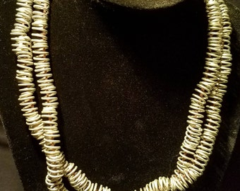 Upcycled Steel Coil Necklace