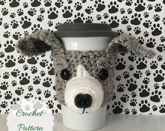 Whippet Crochet Pattern, Amigurumi Dog, Crochet Dog Pattern, Dog Crochet Pattern, Crochet Pattern Dog, Crochet Pattern, Mug Cozy Pattern