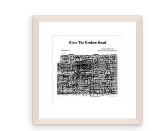 Bless The Broken Road By Rascal Flatts DIY Song Lyric Wall Art Sheet