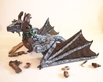 Earth dragon, Earth element dragon, Wyvern dragon, Dragon sculpture, Polymer clay dragon, Dragon, Wyvern, Earth elemental, Four elements