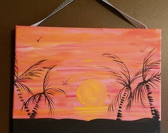Glowing Sunset Canvas