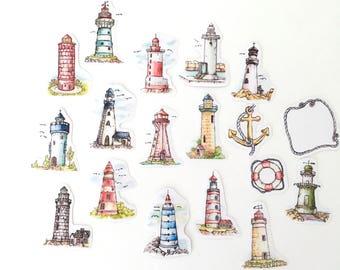 NEW F Lady Illustration Beacon Translucent Sticker