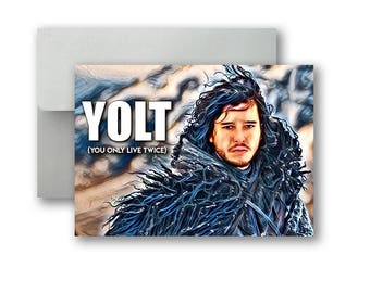 Jon Snow Game of Thrones YOLT Card Poster/Postcard 5x7 inch w/envelope