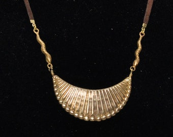 Scalloped Crescent Necklace