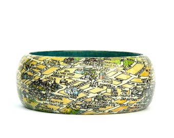 Bangles SAN FRANCISCO City map incl. gift box gift for you gifts for travelers