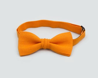 Halloween Orange Bow Tie Father And Son Bow Ties Adult Bow Tie Boys Bow Tie