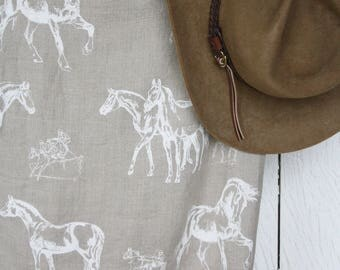 Linen window curtains White horses curtains Beauty curtains Cafe panel Curtain with horses Laundry curtains Farmhouse cottage Country home