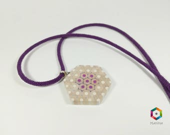 Ria | Necklace from colored pencils | hexagonal